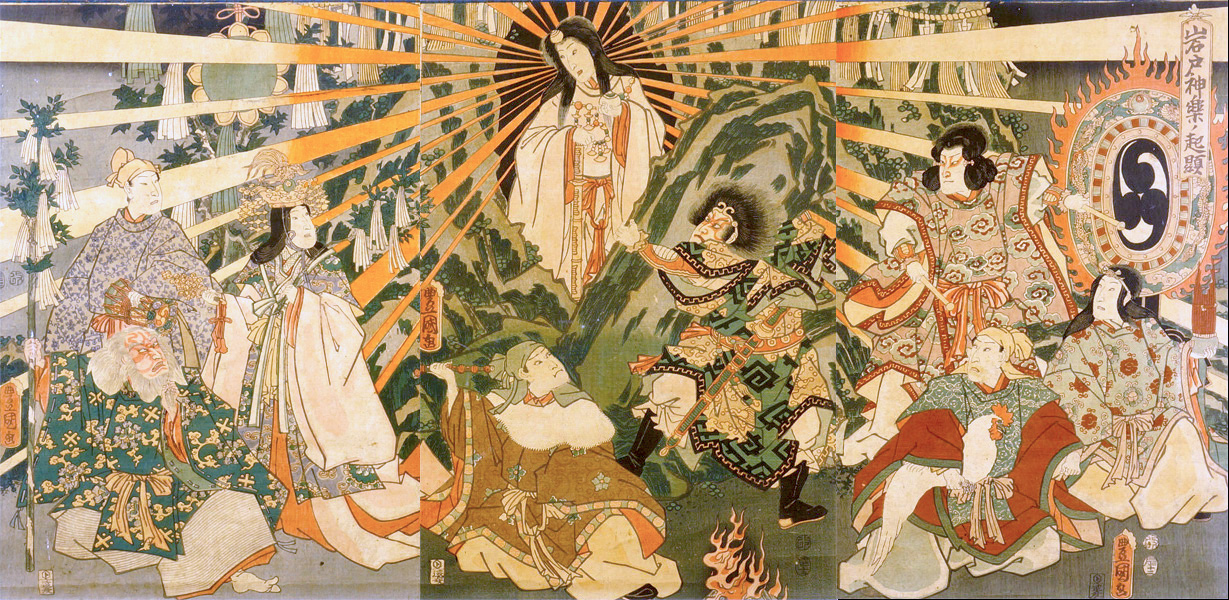 The birth of Japan with the Sun Goddess, 1856